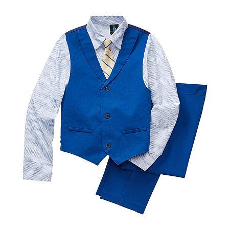Steve Harvey Little & Big Boys 4-pc. Suit Set, 16 , Blue