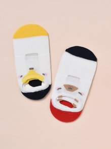 5pairs Toddler Girls Cartoon Graphic Socks