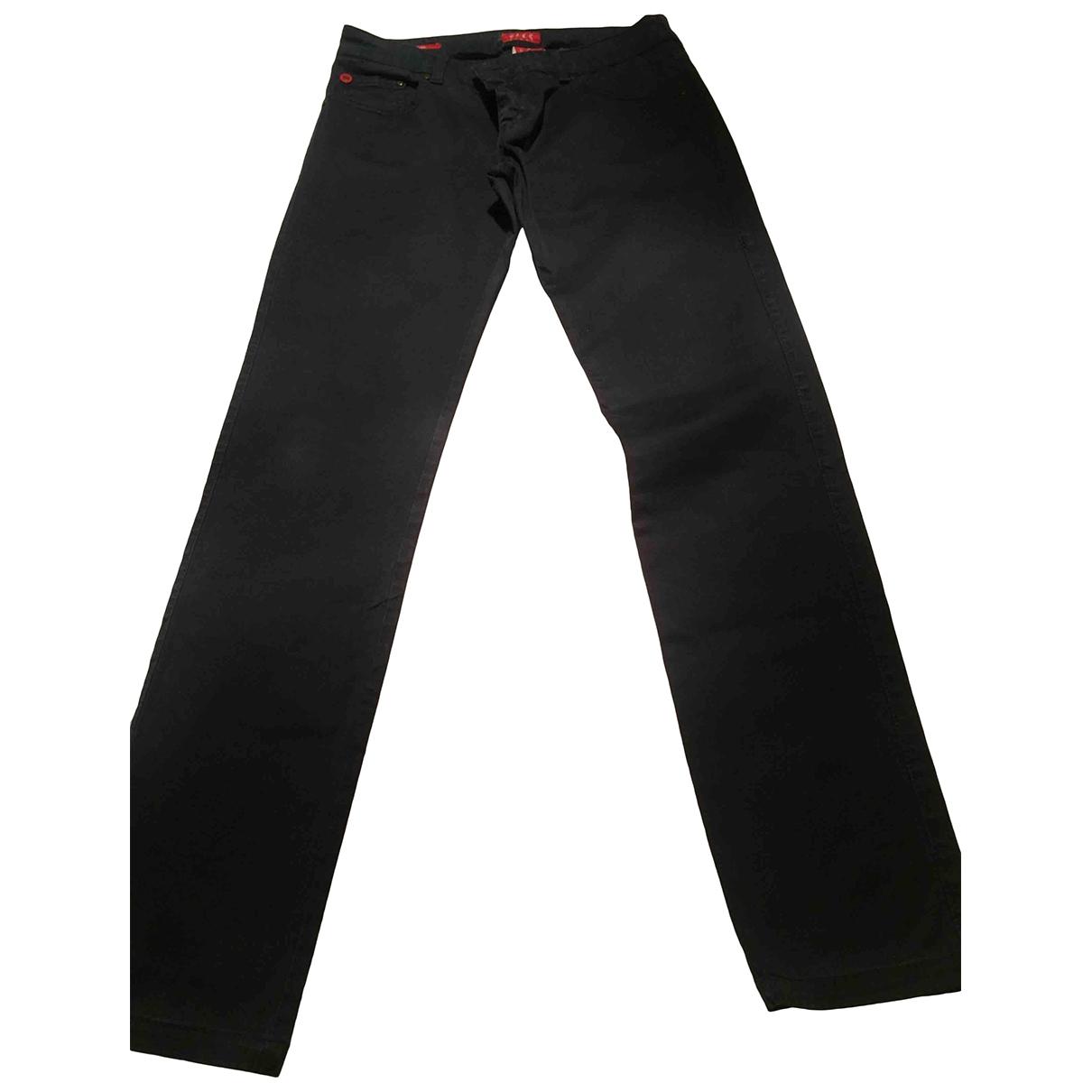 Daks \N Blue Cotton Trousers for Women 44 IT