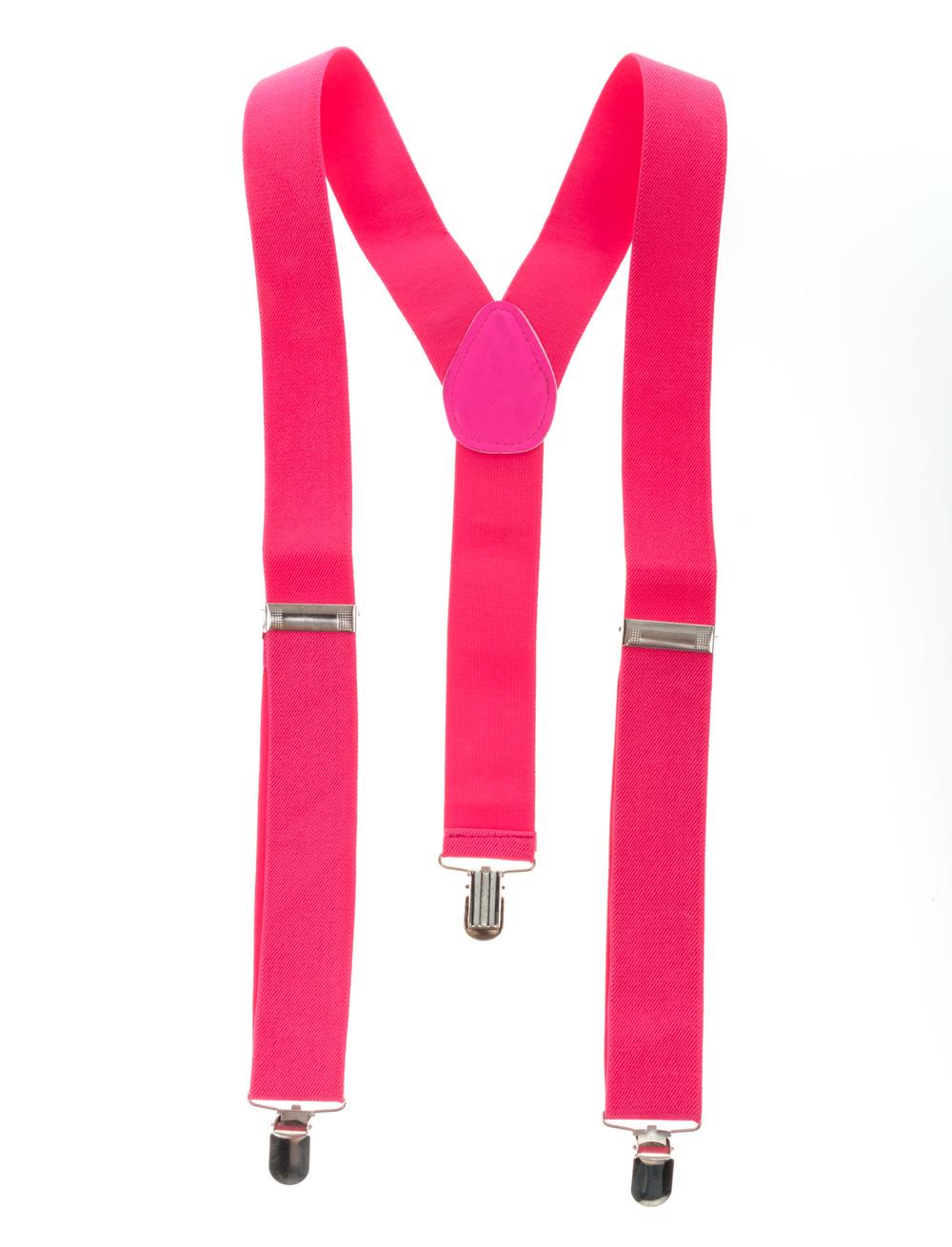 Kostuemzubehor Hosentraeger uni pink