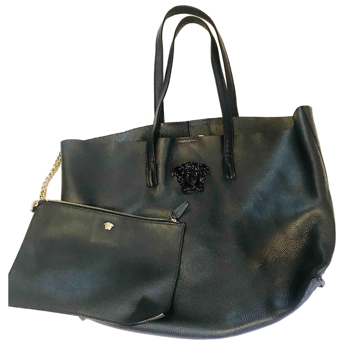Versace - Sac a main Palazzo Empire pour femme en cuir - noir