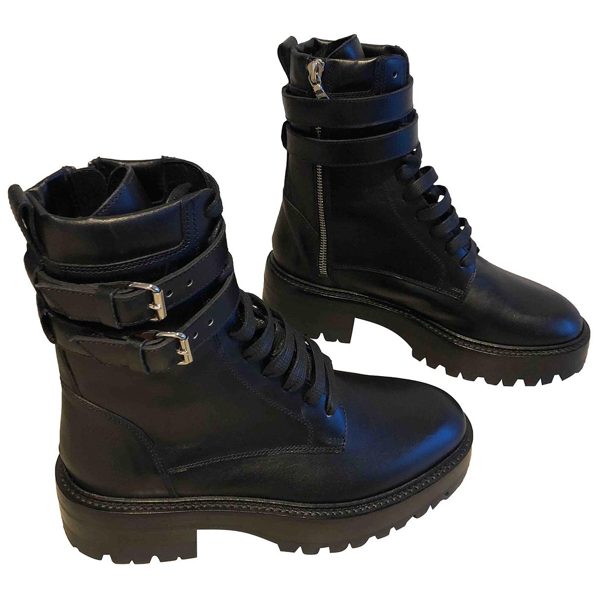 Amiri \N Stiefel in  Schwarz Leder
