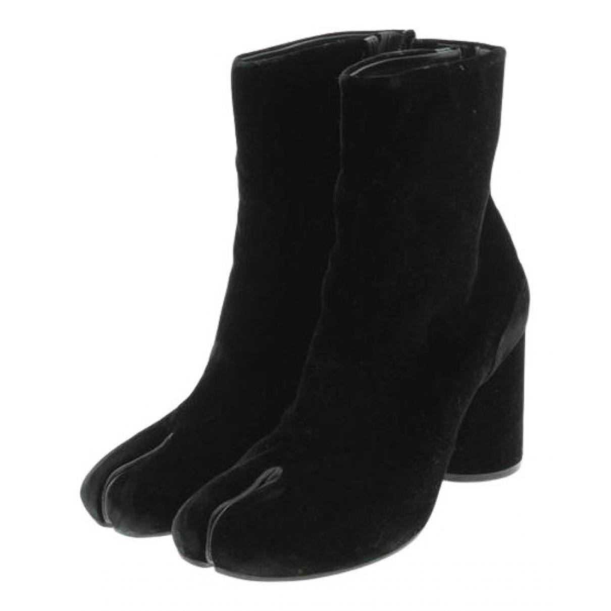 Maison Martin Margiela Tabi Black Leather Ankle boots for Women 37.5 EU