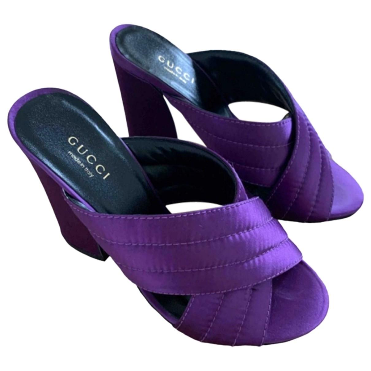 Gucci \N Purple Cloth Sandals for Women 37 EU