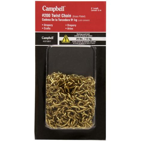 Campbell 10-ft Weldless Brass Plated Metal Chain