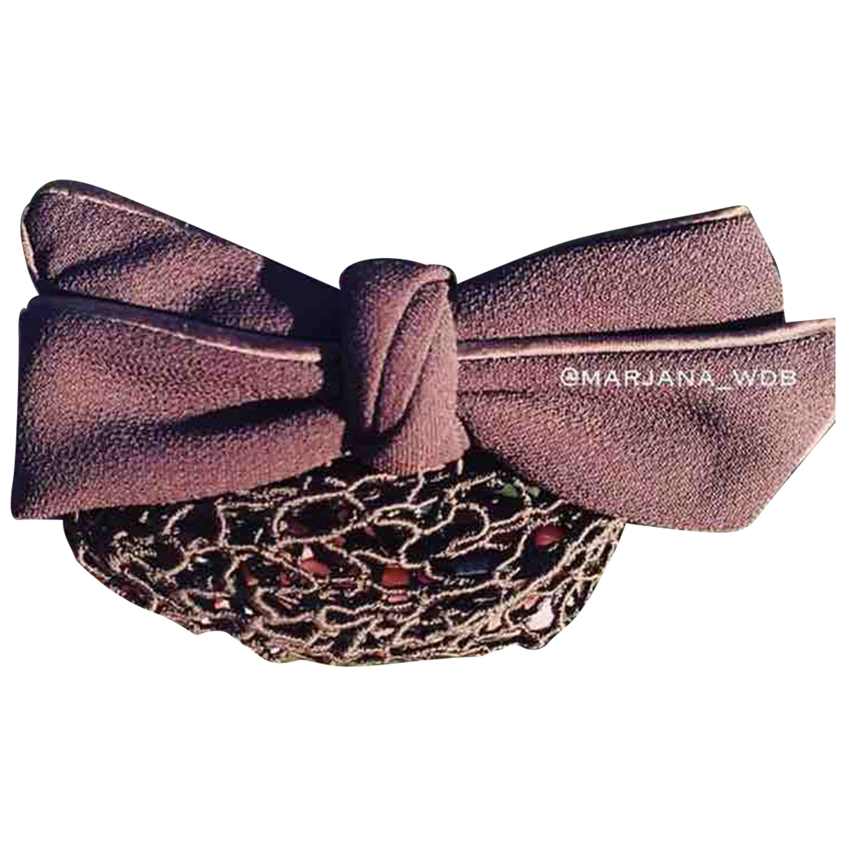 Non Signé / Unsigned \N Brown Cloth Hair accessories for Women \N