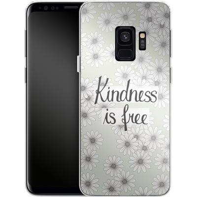 Samsung Galaxy S9 Silikon Handyhuelle - Kindness is Free von Barlena