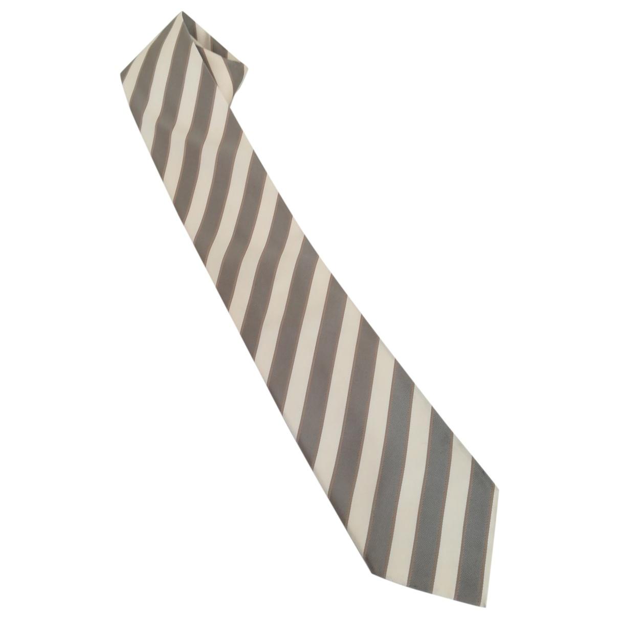 Boss - Cravates   pour homme en soie - blanc