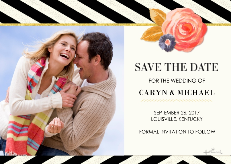 Save the Date 5x7 Cards, Premium Cardstock 120lb with Elegant Corners, Card & Stationery -Chic Elegance Save the Date