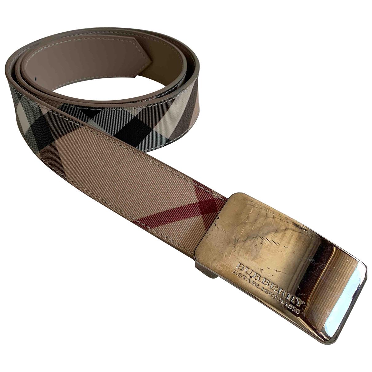 Burberry N Beige Leather belt for Women 95 cm