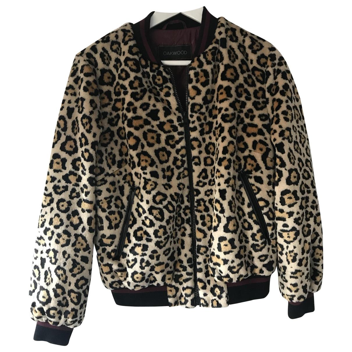 Oakwood \N Beige Faux fur Leather jacket for Women 38 FR