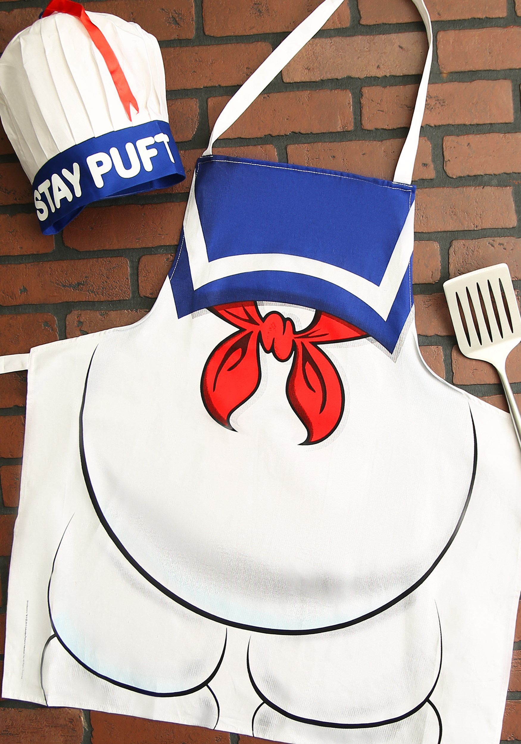 Ghostbusters Stay Puft Apron and Chef Hat Grilling Set