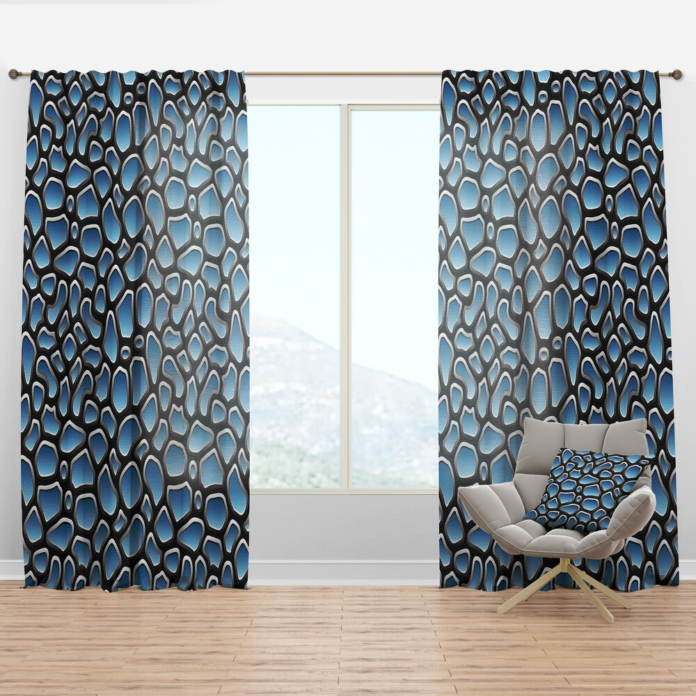 Designart 'Abstract Pattern Illustration' Modern & Contemporary Curtain Panel (50 in. wide x 95 in. high - 1 Panel)