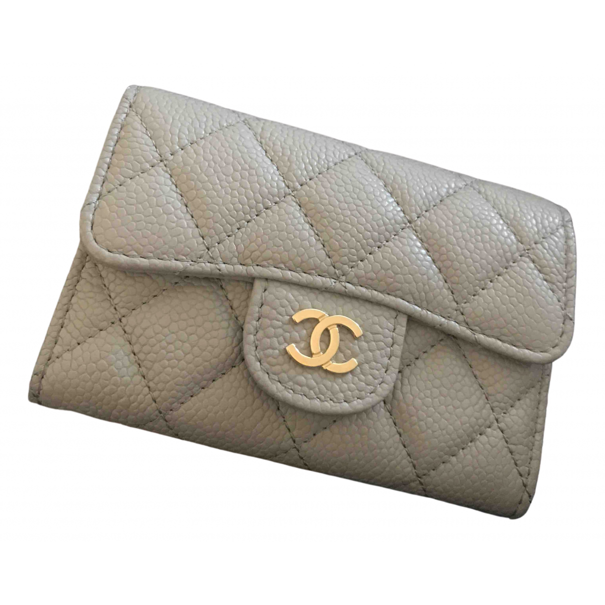 Chanel Timeless/Classique Grey Leather wallet for Women \N