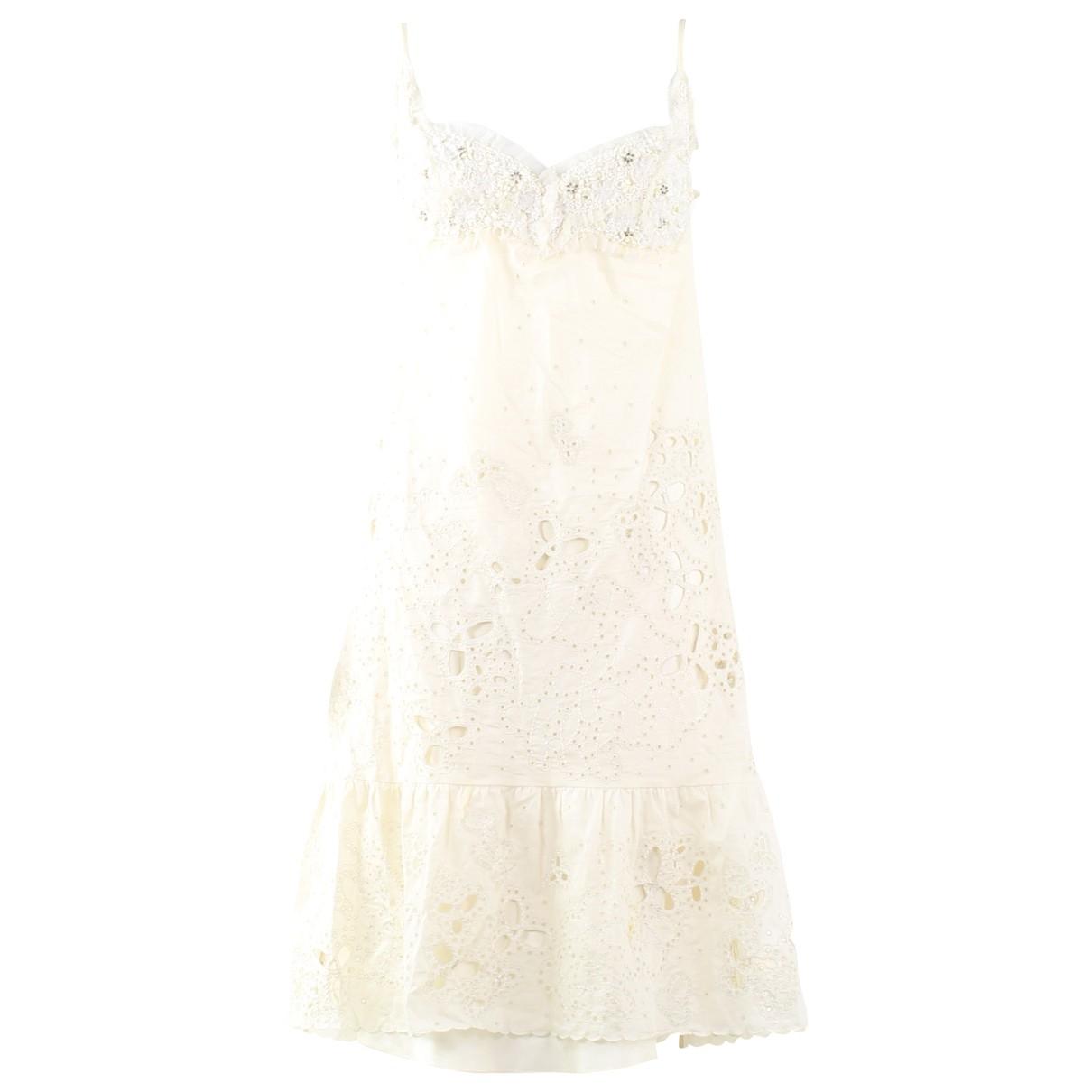 Nina Ricci - Robe   pour femme en laine - ecru
