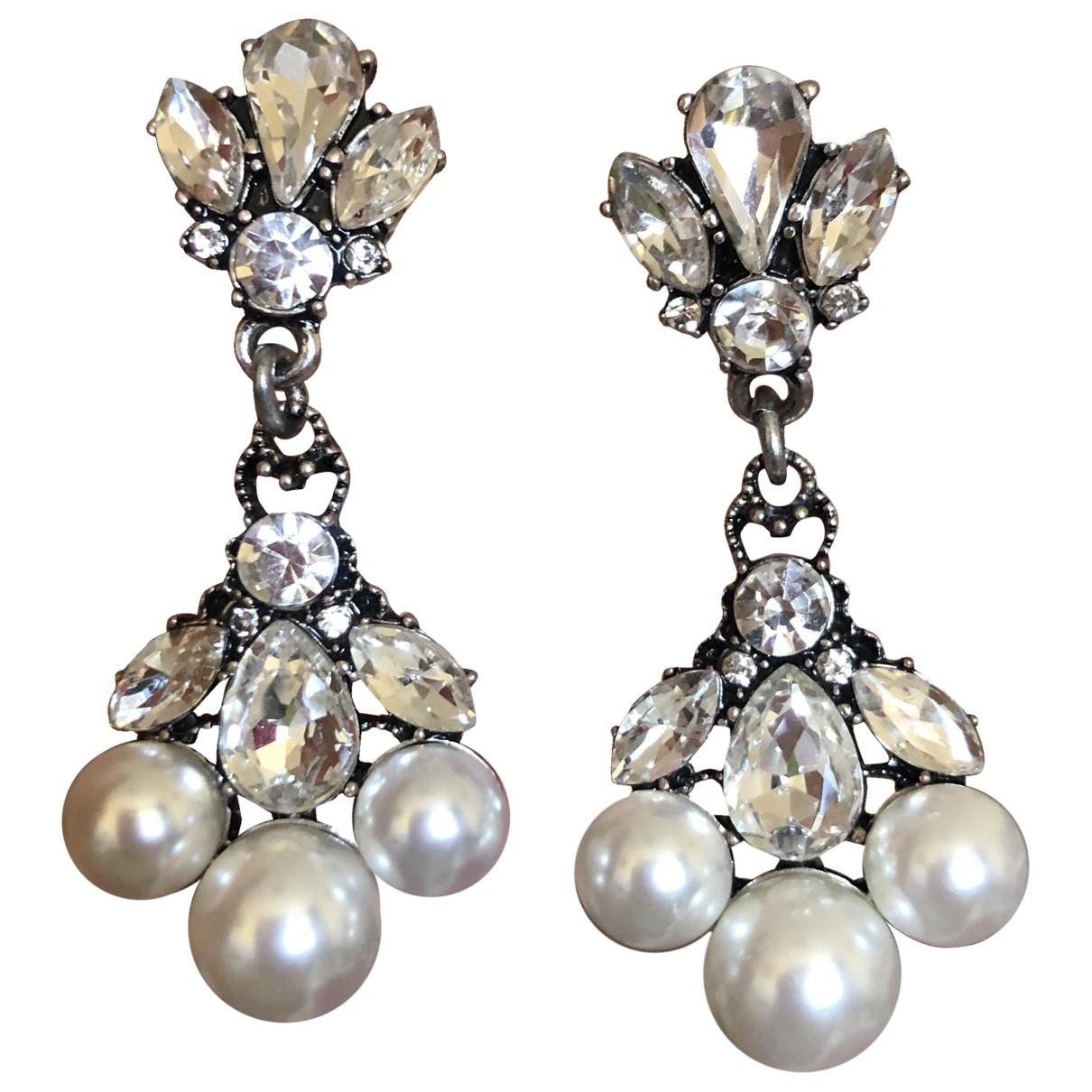 Non Signé / Unsigned Nacre Multicolour Steel Earrings for Women \N