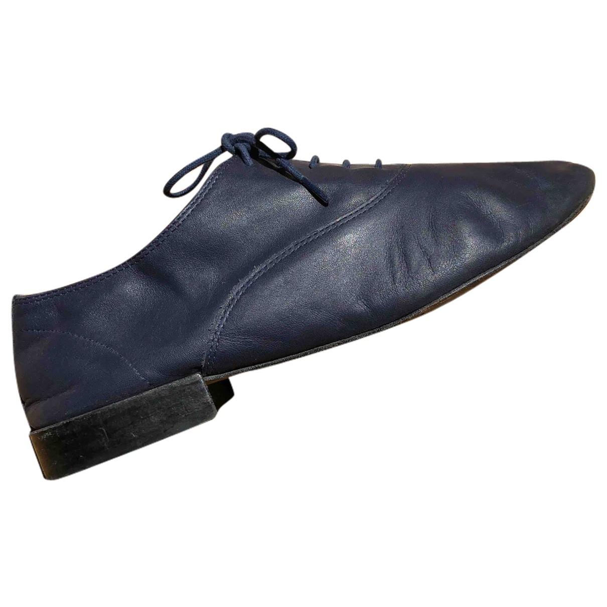 Repetto \N Schnuerschuhe in  Blau Leder