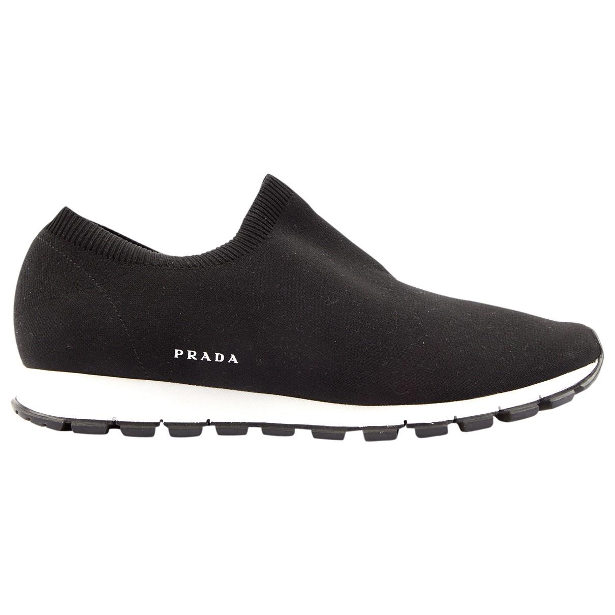 Prada \N Black Cloth Trainers for Men 10 UK