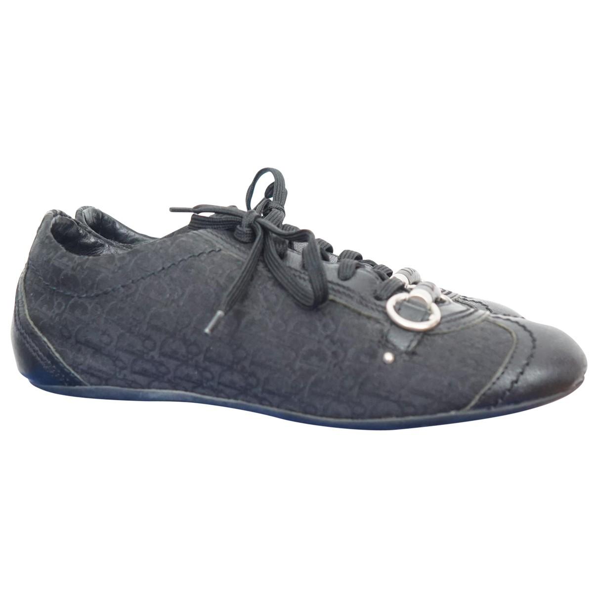 Dior \N Sneakers in  Schwarz Leinen