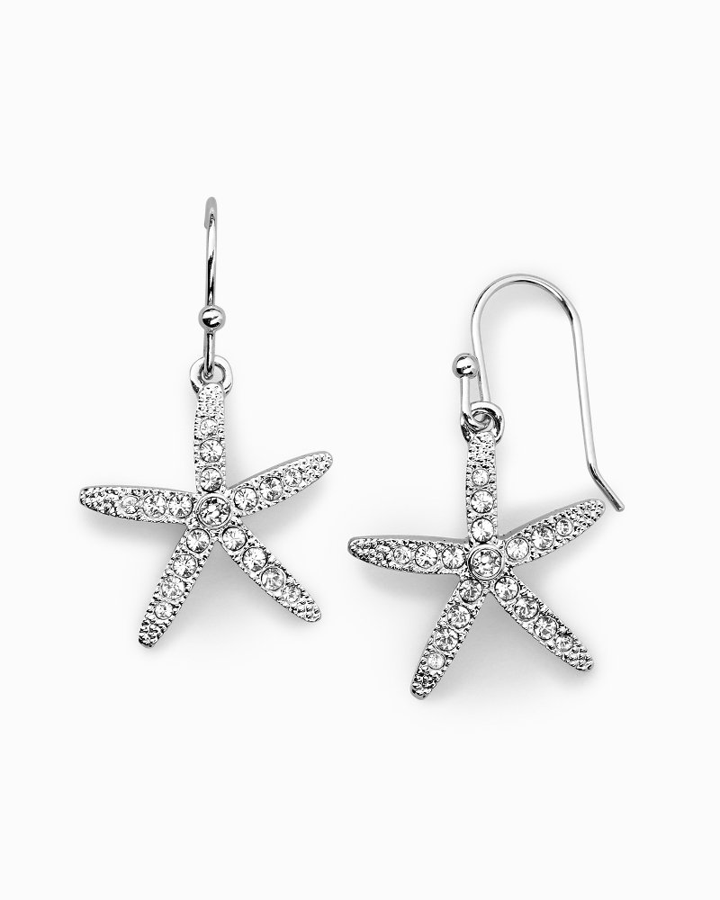 Starfish Earrings With Swarovski® Crystals