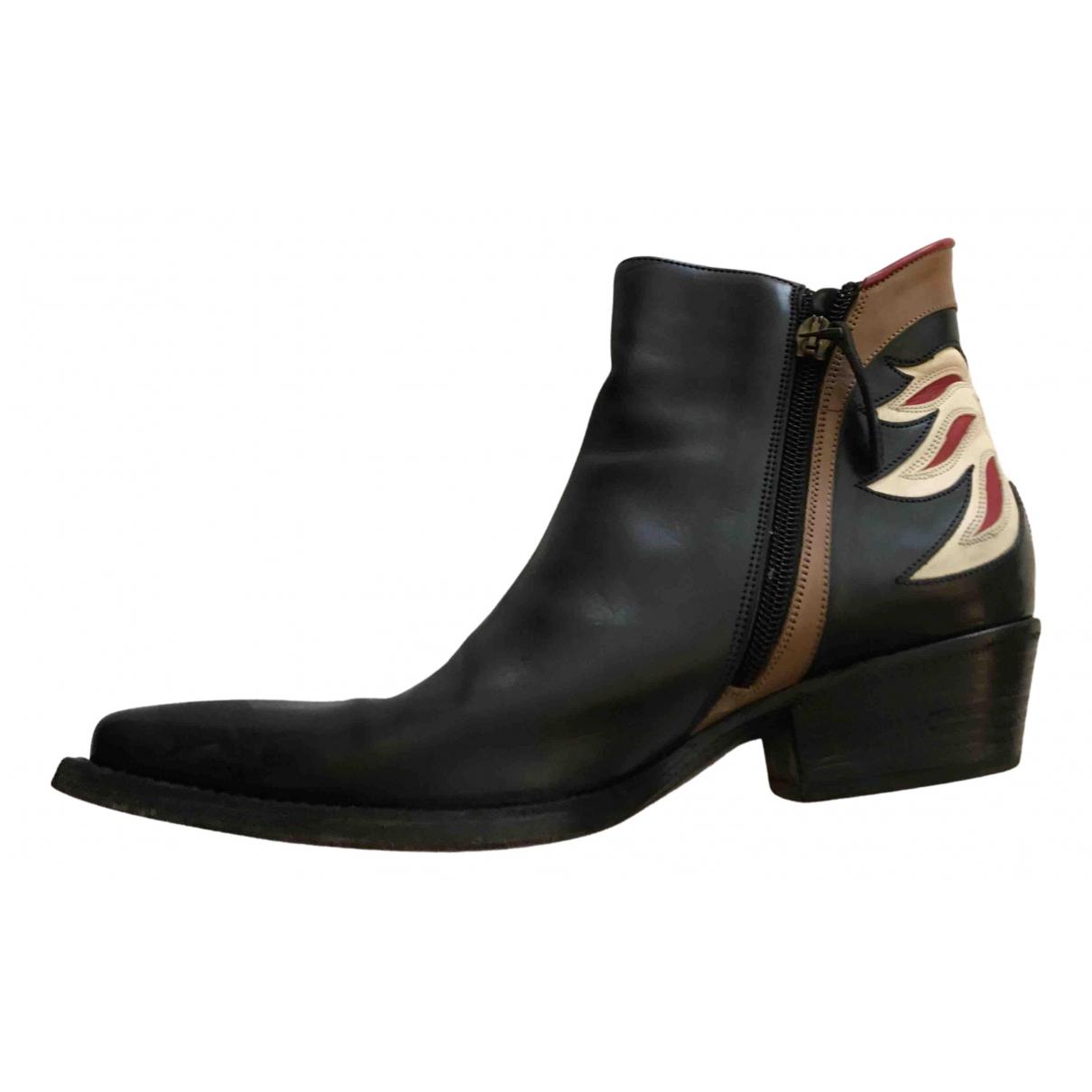 Sartore - Boots   pour femme en cuir - bleu