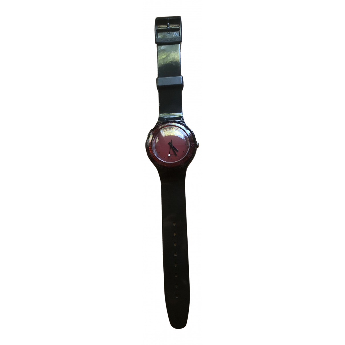Swatch \N Red watch for Men \N
