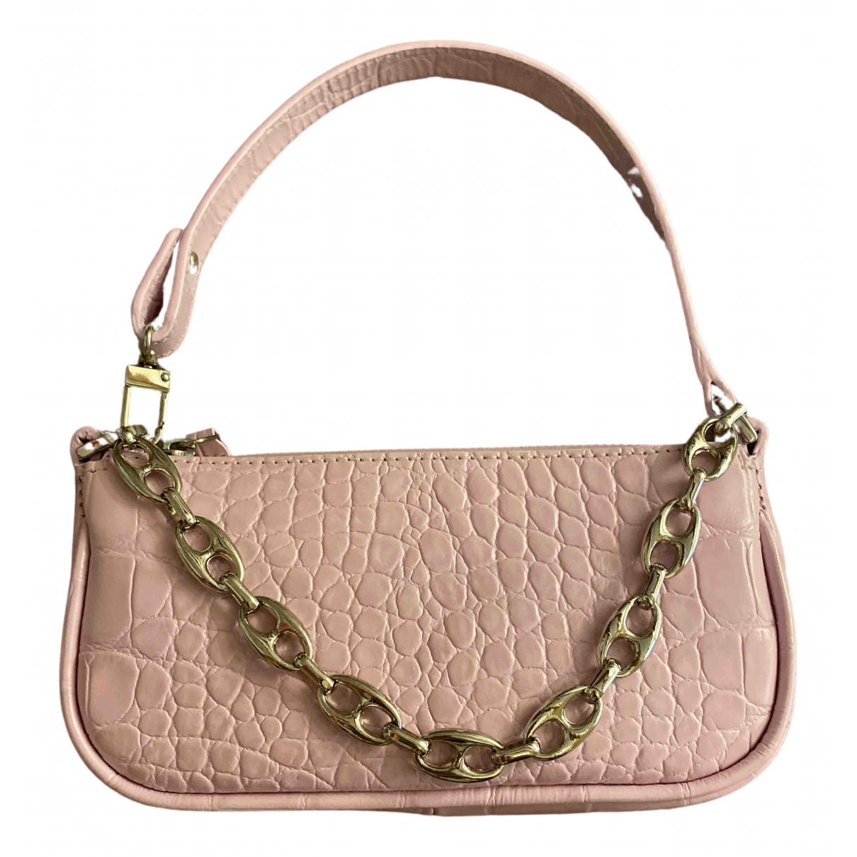 By Far Rachel Pink Leather handbag for Women \N