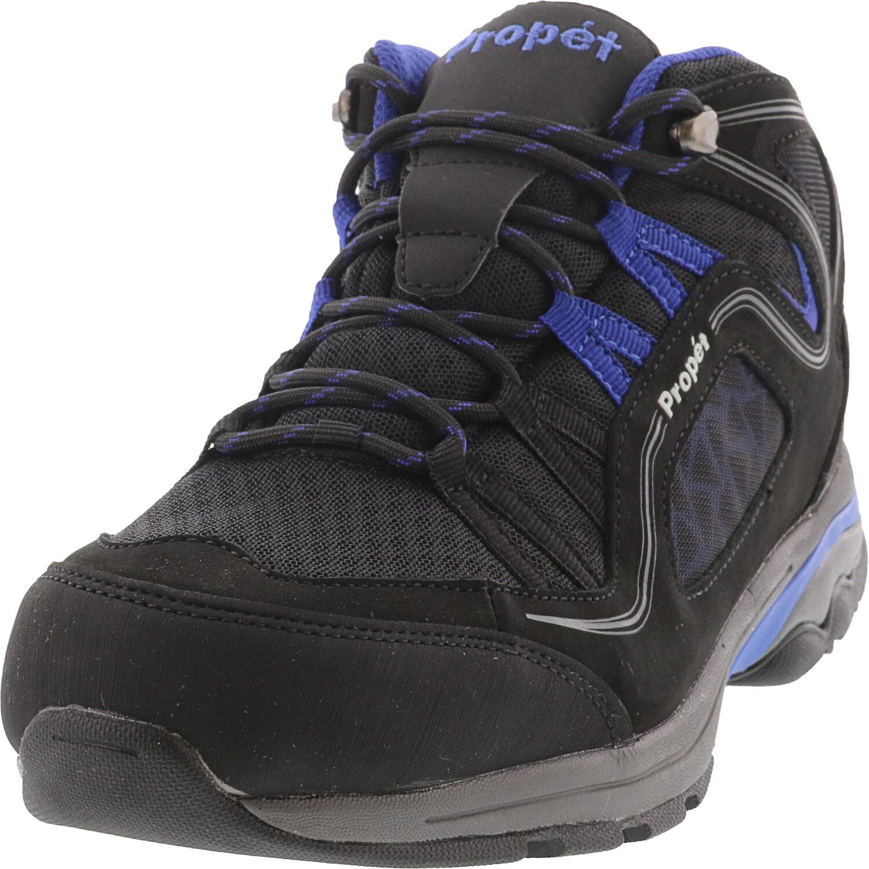 Propet Women's Peak Black / Royal Blue Ankle-High Leather Hiking Shoe - 10.5W