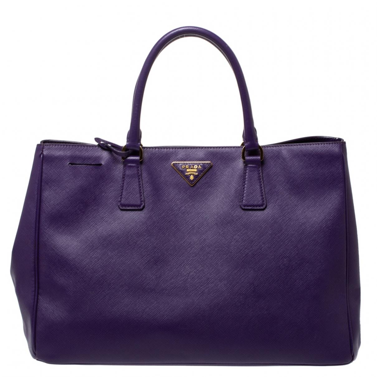 Prada saffiano  Purple Leather handbag for Women N