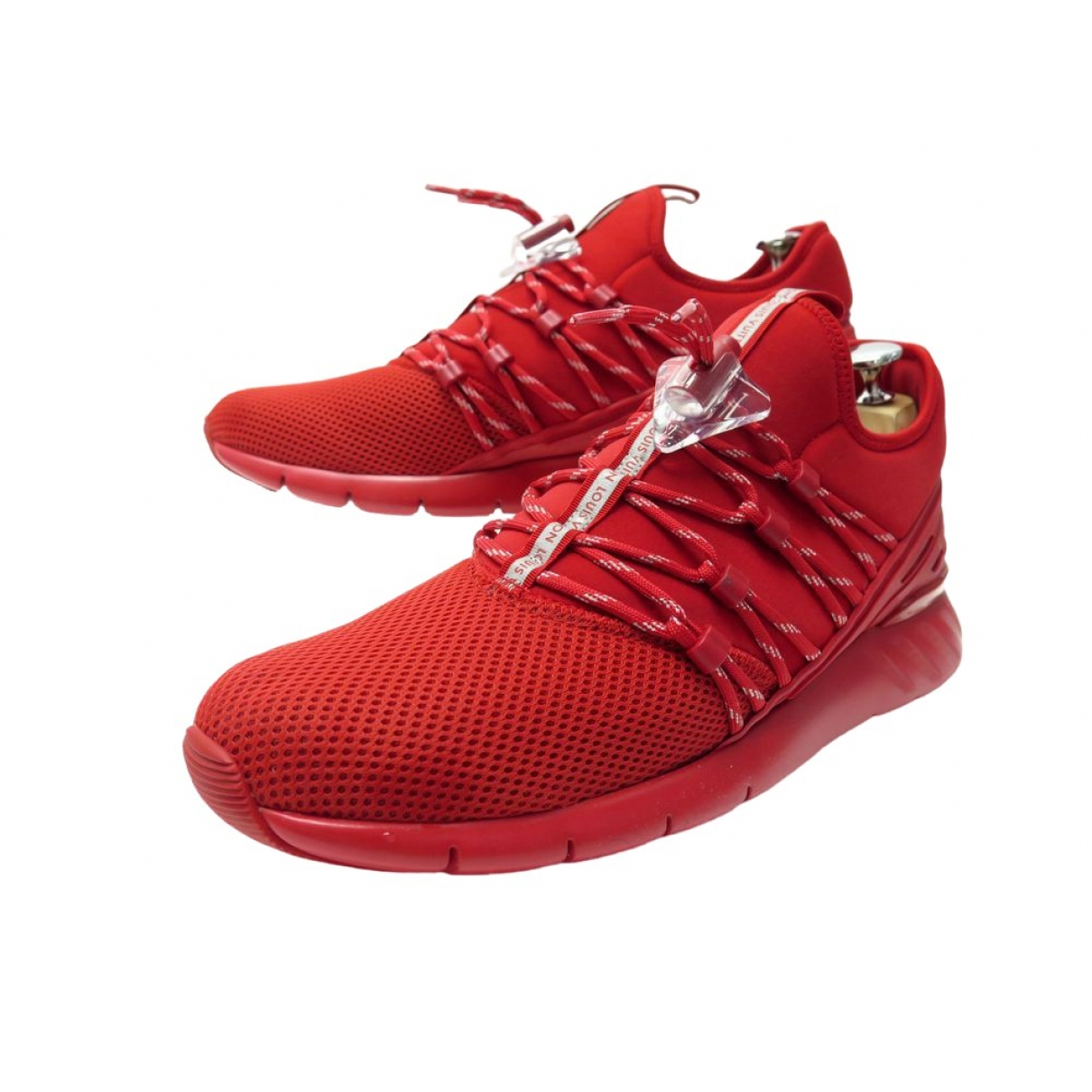 Louis Vuitton \N Red Cloth Trainers for Women 42.5 EU