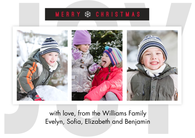 Christmas Photo Cards 5x7 Cards, Premium Cardstock 120lb with Rounded Corners, Card & Stationery -Simple Joy