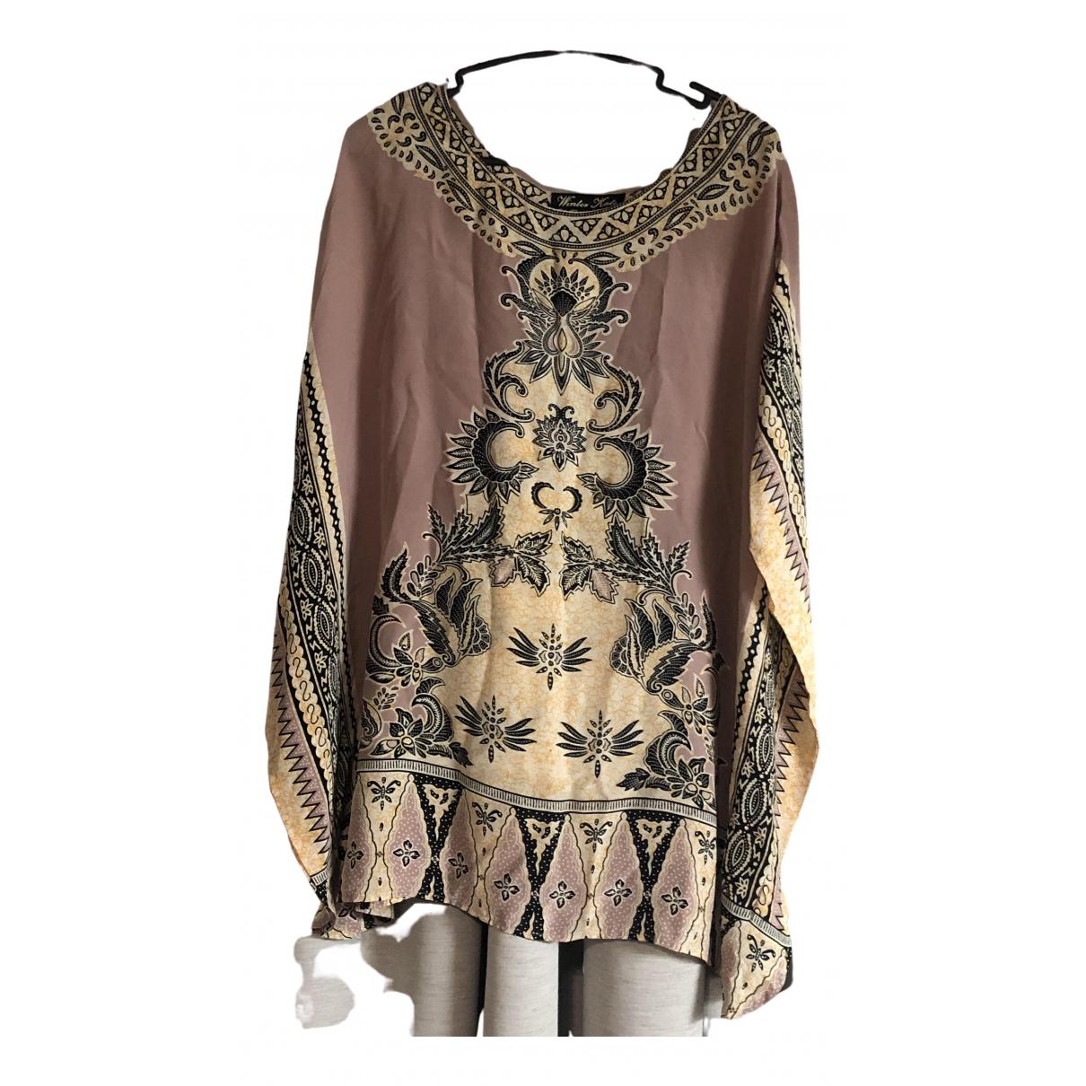 Winter Kate \N Kleid in  Rosa Seide