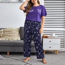 Pijamas de Talla Grande Galaxia Dulce