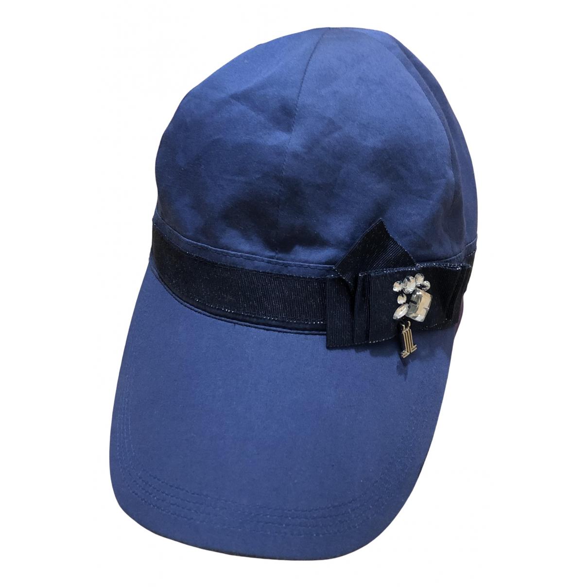 Lanvin - Chapeau   pour femme en coton - bleu