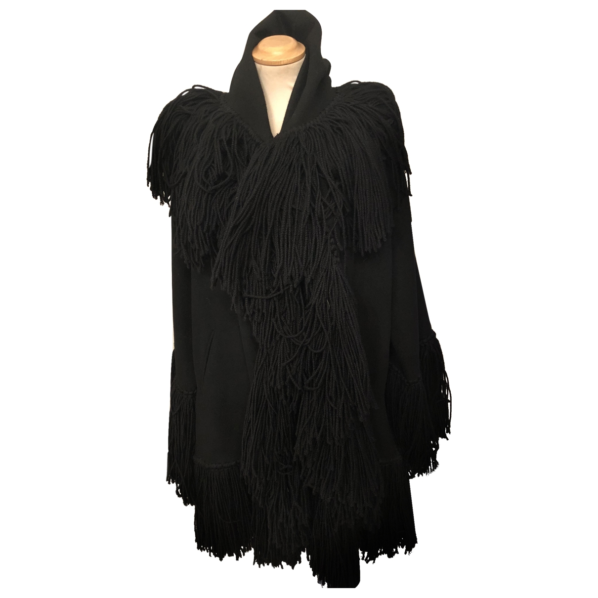 Moschino \N Maentel in  Schwarz Wolle