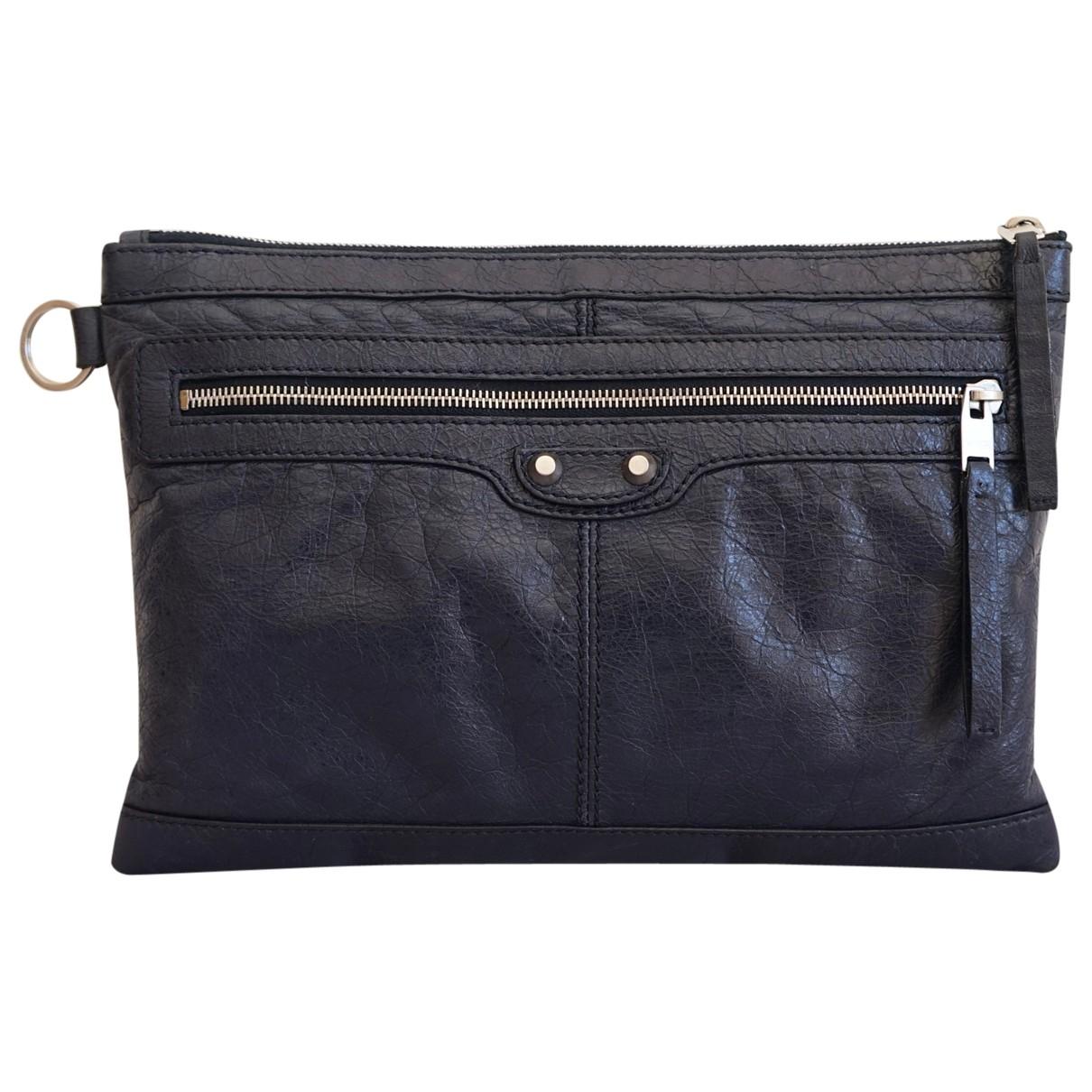Balenciaga \N Navy Leather Clutch bag for Women \N