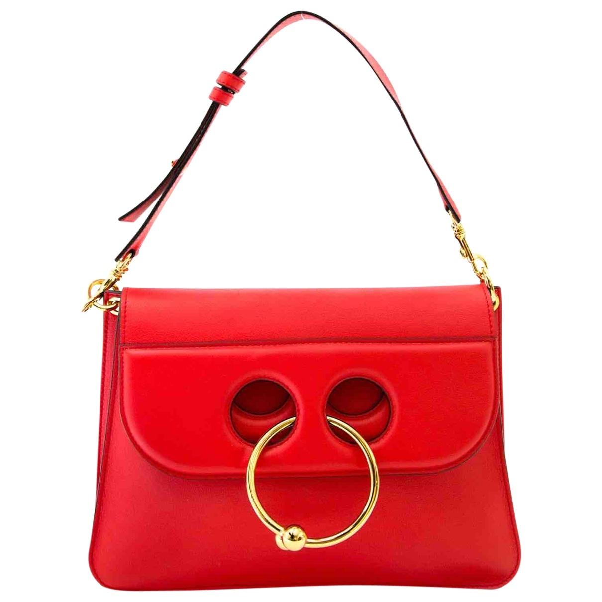 J.w. Anderson Pierce Red Leather handbag for Women \N