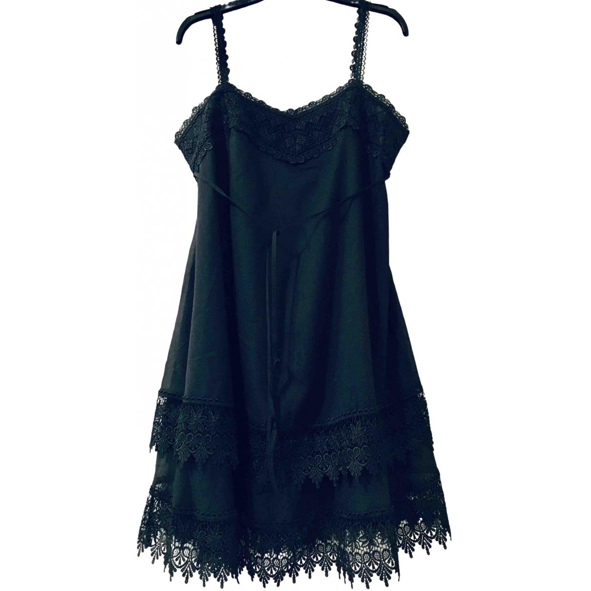 Charo Ruiz \N Kleid in  Schwarz Baumwolle