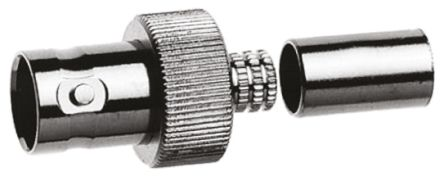 Telegartner Straight 75Ω Cable Mount BNC Connector, jack, Nickel, Clamp, Crimp Termination