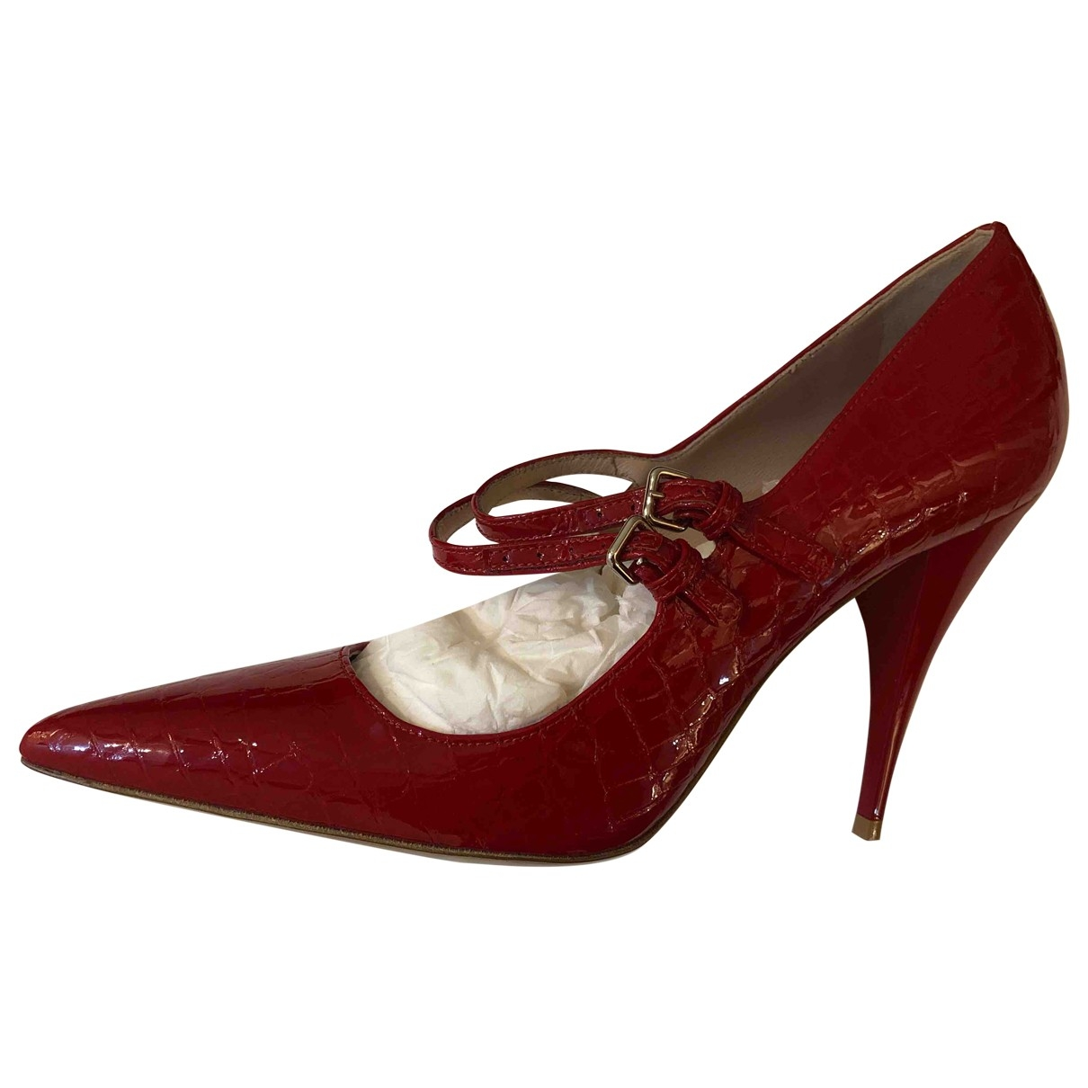 Miu Miu \N Red Leather Heels for Women 36.5 EU