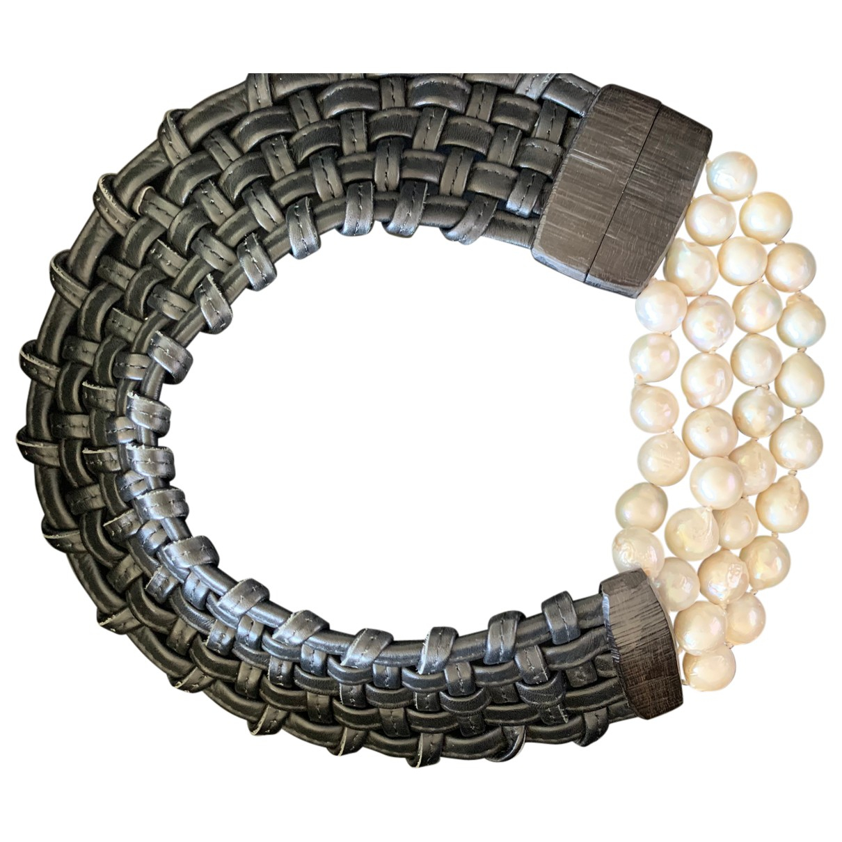 Monies - Collier   pour femme en perle - blanc