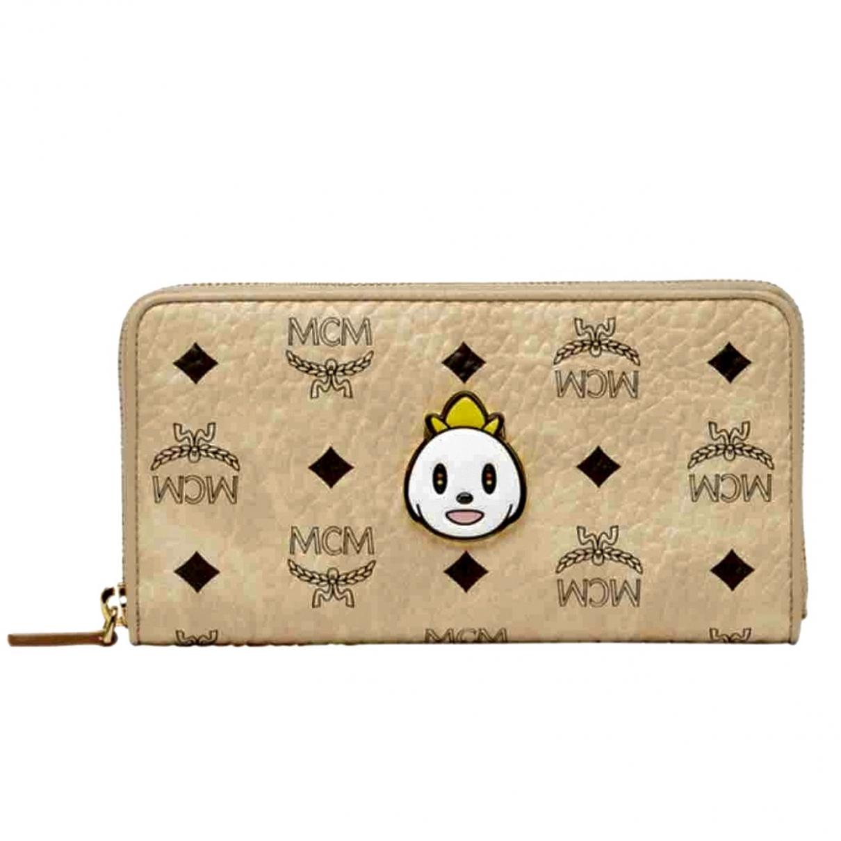Mcm \N Beige Leather wallet for Women \N