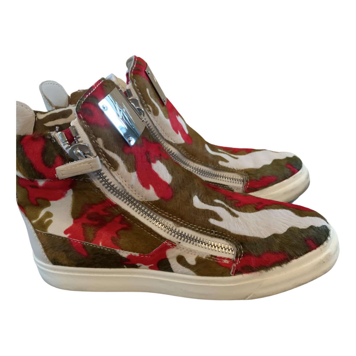 Giuseppe Zanotti N Multicolour Pony-style calfskin Trainers for Women 7.5 UK