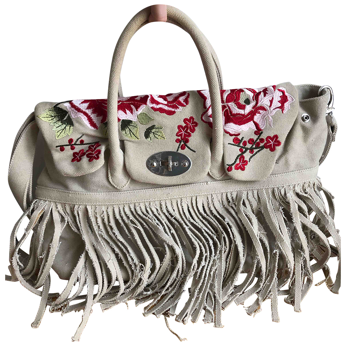 Mia Bag N Beige Cotton handbag for Women N