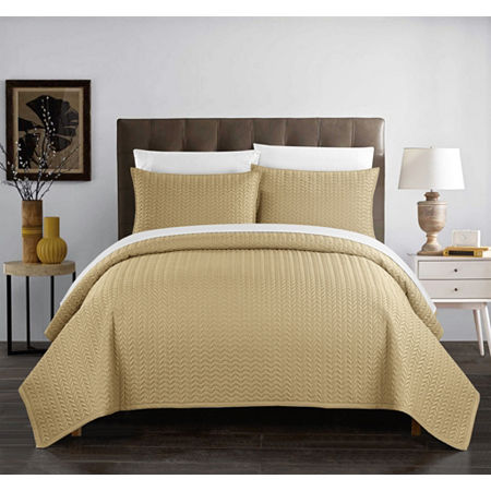 Chic Home Weaverland Quilt Set, One Size , Yellow