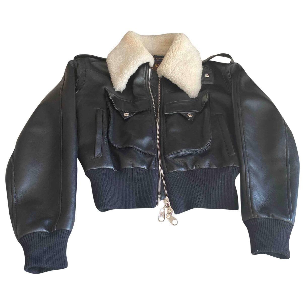 Louis Vuitton \N Lederjacke in  Schwarz Leder