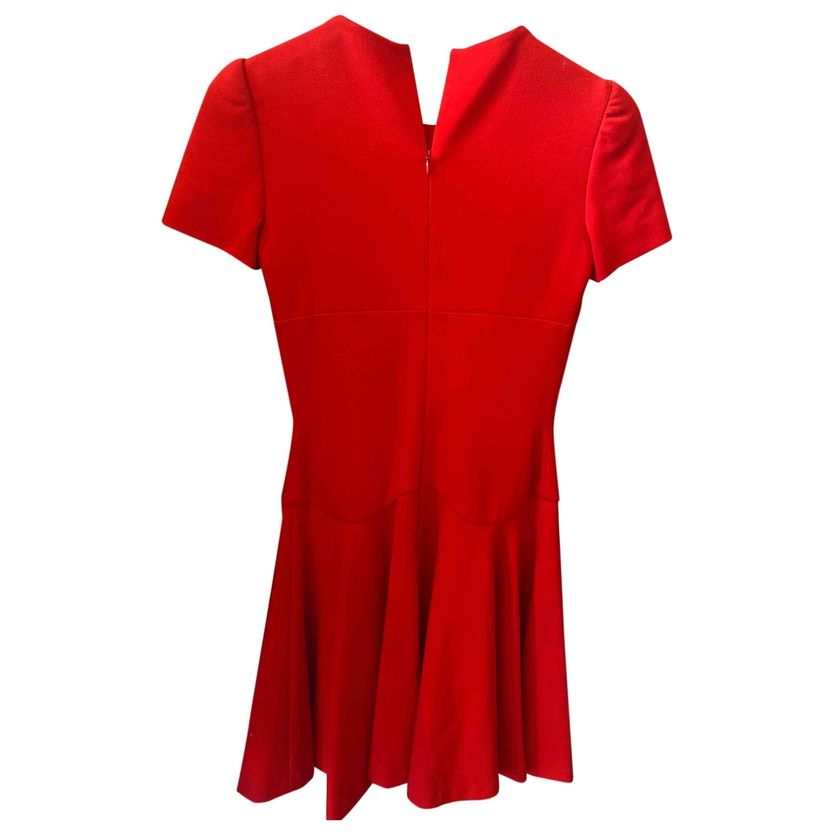 Alexander Mcqueen - Robe   pour femme en coton - elasthane - rouge