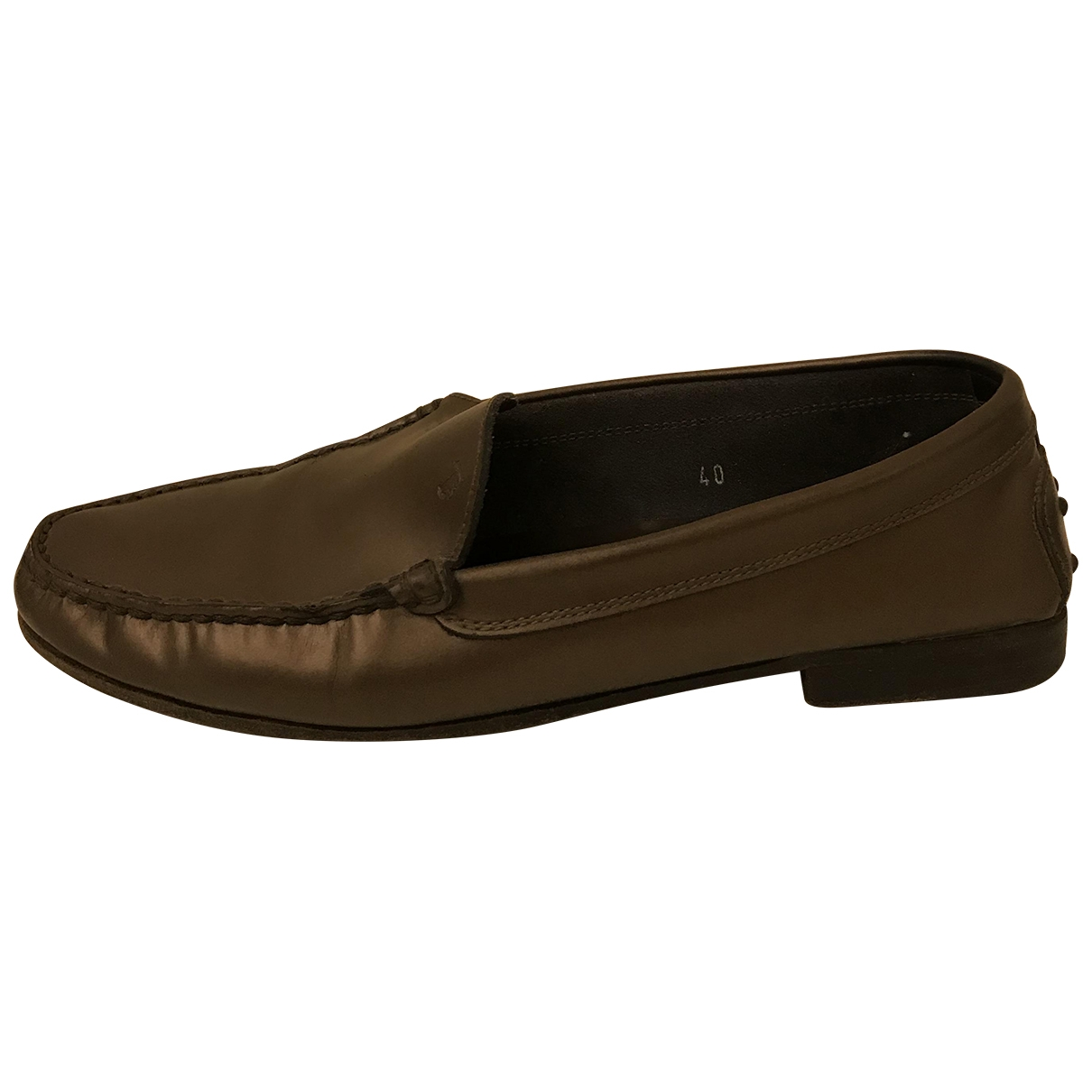 Tod's \N Brown Leather Flats for Women 40 IT