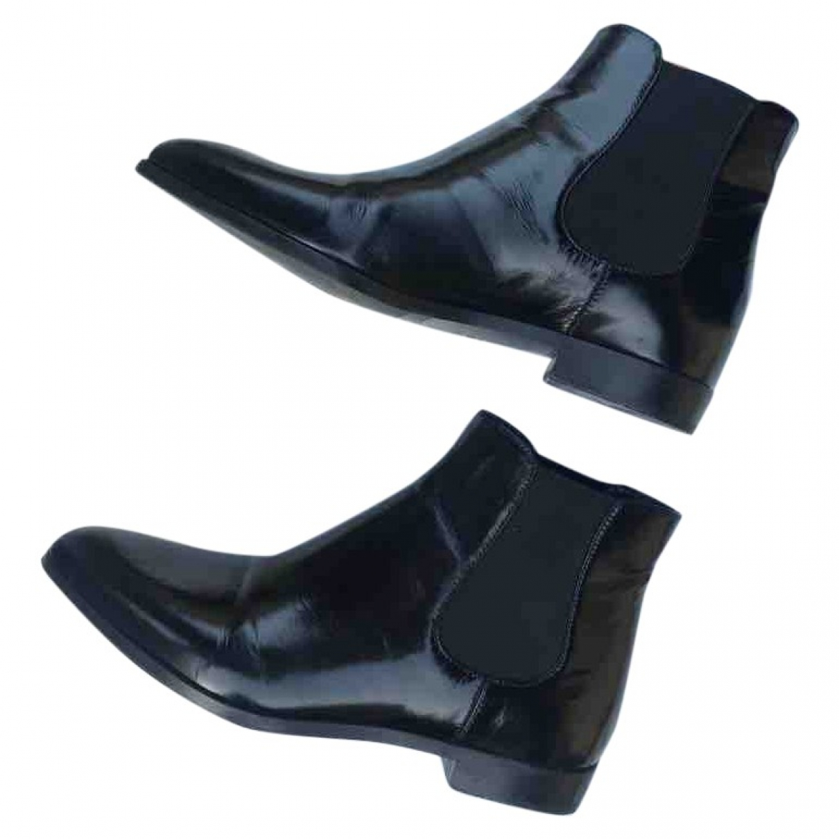 Prada \N Black Leather Ankle boots for Women 36 EU