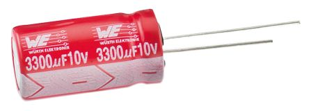Wurth Elektronik 100μF Electrolytic Capacitor 16V dc, Through Hole - 860130373003 (25)